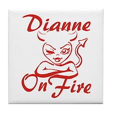 Dianne On Fire Tile Coaster