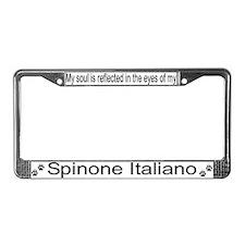 """""""Spinone Italiano"""" License Plate Frame"""