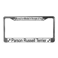"""""""Parson Russell Terrier"""" License Plate Frame"""