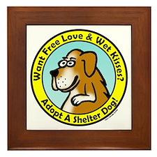 Adopt A Dog Boxer Framed Tile
