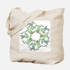 Circle of White's Tree Frogs Tote Bag