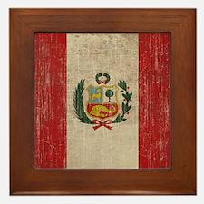 Vintage Peru Framed Tile