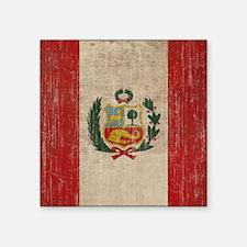 "Vintage Peru Square Sticker 3"" x 3"""