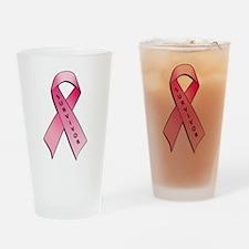 Survivor Pink Ribbon Drinking Glass