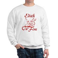 Edith On Fire Sweatshirt