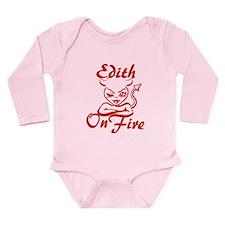 Edith On Fire Long Sleeve Infant Bodysuit