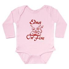 Edna On Fire Long Sleeve Infant Bodysuit