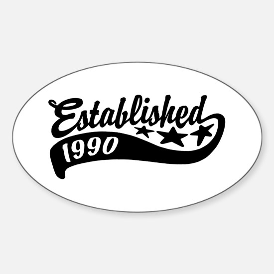 Established 1990 Sticker (Oval)