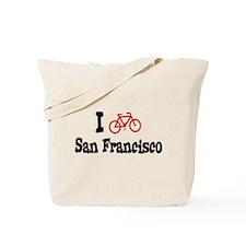 I Bike San Francisco Tote Bag