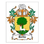 Rothe Coat of Arms Small Poster