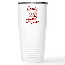 Emily On Fire Travel Mug