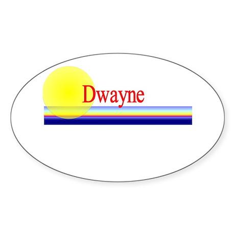 Dwayne Oval Sticker