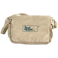 Just Sayin' Texty Bubble Messenger Bag