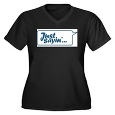 Just Sayin' Texty Bubble Women's Plus Size V-Neck
