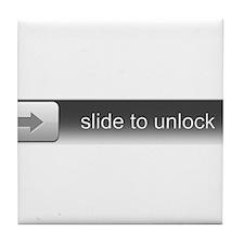 Slide To Unlock Tile Coaster
