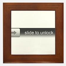 Slide To Unlock Framed Tile