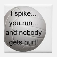 I Spike you Run Tile Coaster