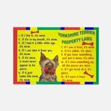 3-PROPERTY LAWS -Yorkie,PC Magnets