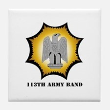 113th Army Band with Text Tile Coaster