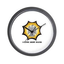 113th Army Band with Text Wall Clock