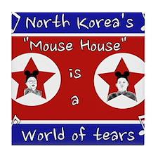 North Korea's Mouse House Tile Coaster
