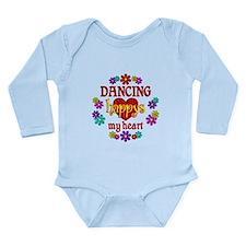 Dancing Happy Long Sleeve Infant Bodysuit