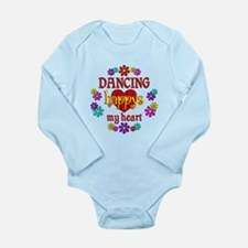 Dancing Happy Long Sleeve Infant Bodysuit