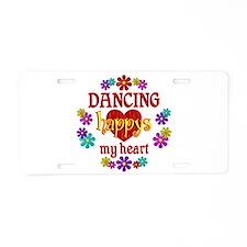 Dancing Happy Aluminum License Plate