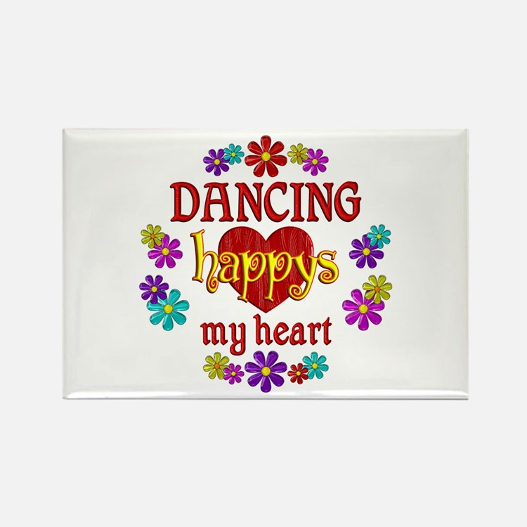 Dancing Happy Rectangle Magnet (10 pack)