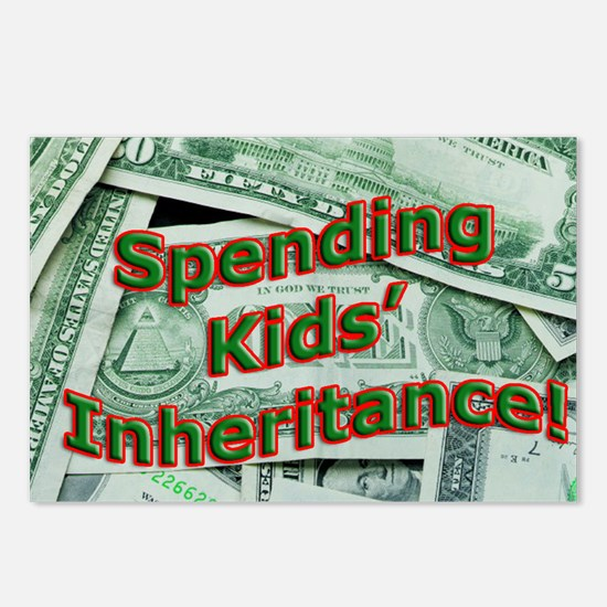 Spending Kids' Inheritance! Postcards (Package of