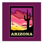 Arizona Square Car Magnet 3
