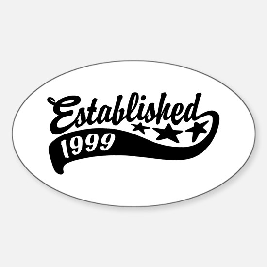 Established 1999 Sticker (Oval)
