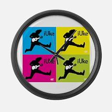 iUke x4 Large Wall Clock