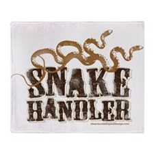 Snake Handler Throw Blanket