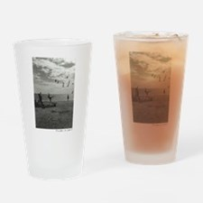 Unique Black and white dog photos Drinking Glass