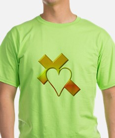 Yellow Cross and Heart T-Shirt
