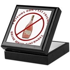 No White Zin Keepsake Box