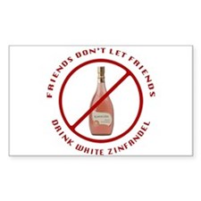 No White Zin Decal