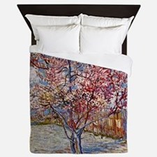 Van Gogh Peach Tree In Bloom Queen Duvet