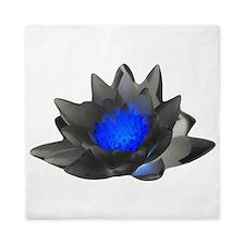 Neon Blue Lotus Queen Duvet