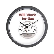 Will Work for Gasoline Wall Clock