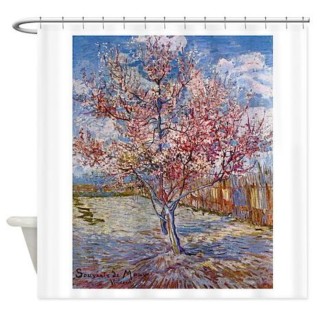 Van Gogh Peach Tree In Bloom Shower Curtain
