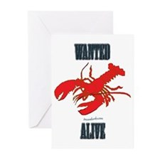 Lobster Wanted Alive Greeting Cards (Pk of 10)
