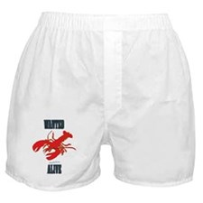 Lobster Wanted Alive Boxer Shorts