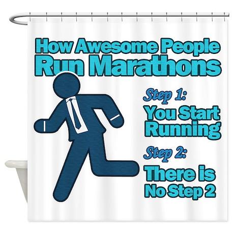 Marathons Shower Curtain