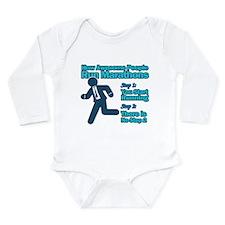 Marathons Long Sleeve Infant Bodysuit
