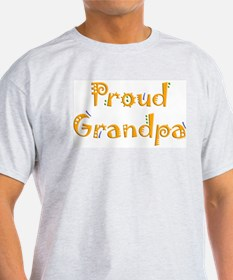 Proud Grandpa Ash Grey T-Shirt