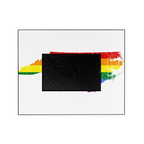 North Carolina Rainbow Pride Flag And Map Picture