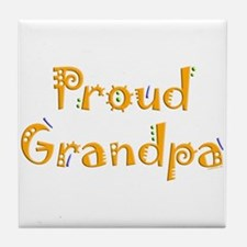 Proud Grandpa Tile Coaster