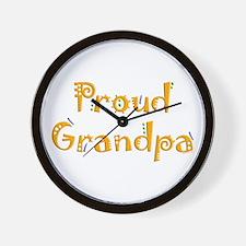 Proud Grandpa Wall Clock